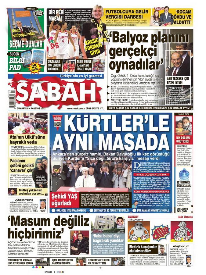 Gazete Manşetleri - 4 Ağustos 2012 13