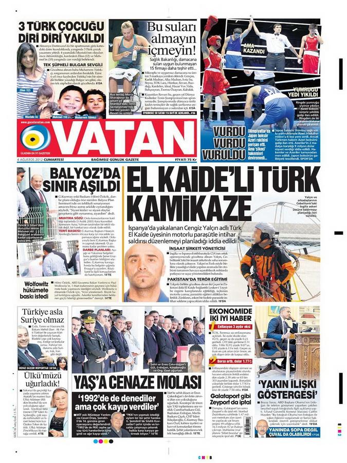 Gazete Manşetleri - 4 Ağustos 2012 20