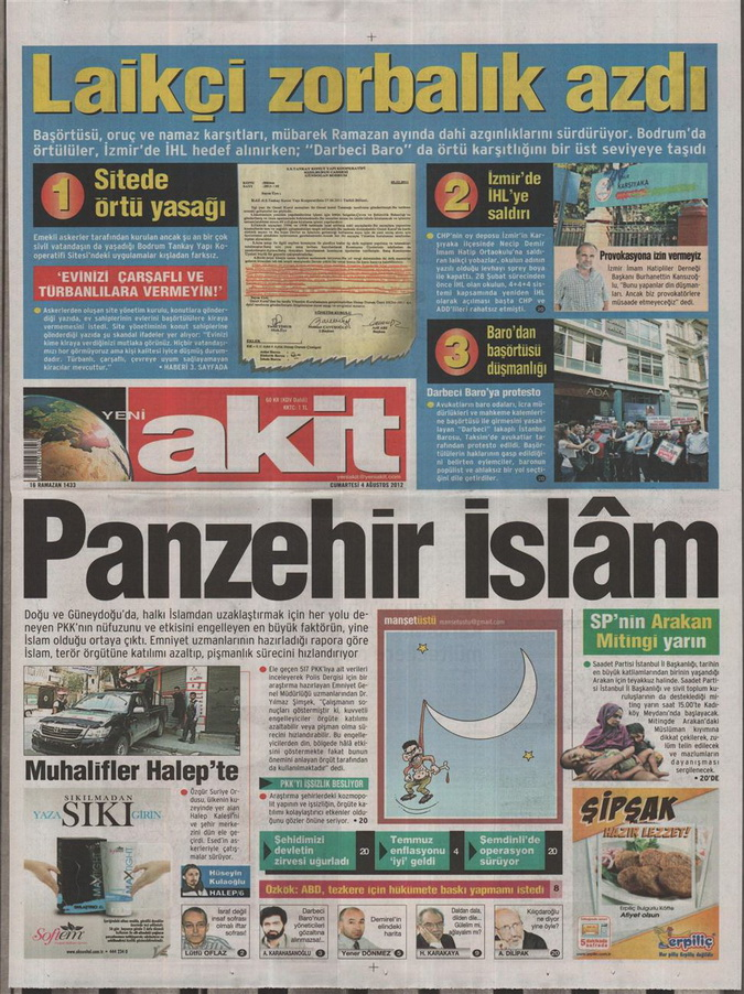 Gazete Manşetleri - 4 Ağustos 2012 21