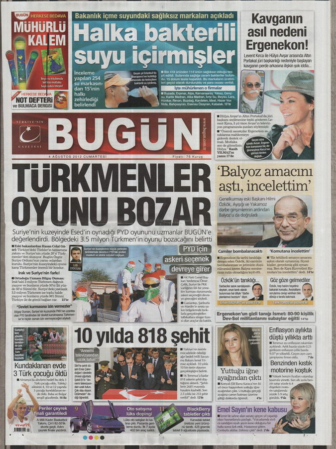 Gazete Manşetleri - 4 Ağustos 2012 3