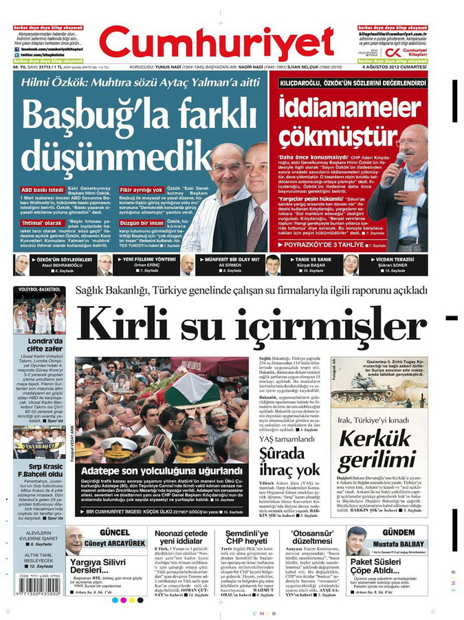 Gazete Manşetleri - 4 Ağustos 2012 4