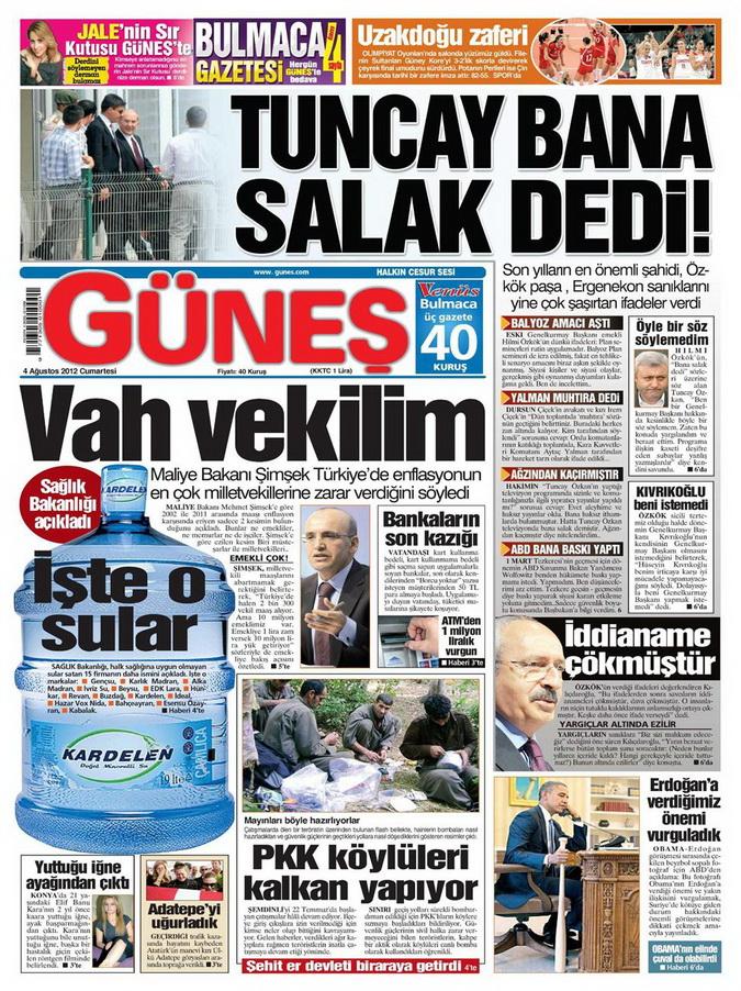 Gazete Manşetleri - 4 Ağustos 2012 5