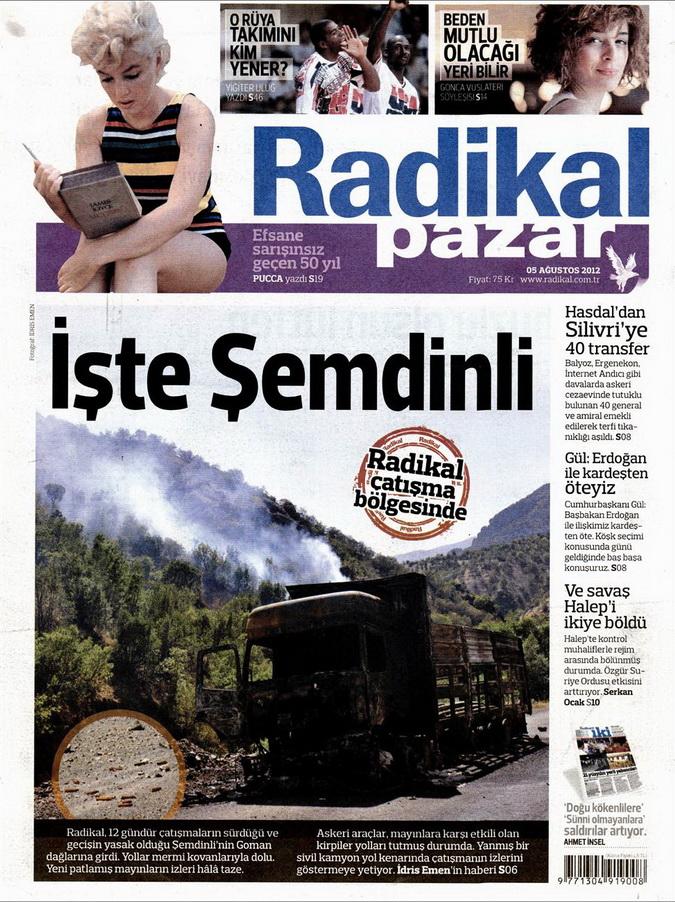 Gazete Manşetleri - 5 Ağustos 2012 Pazar 10