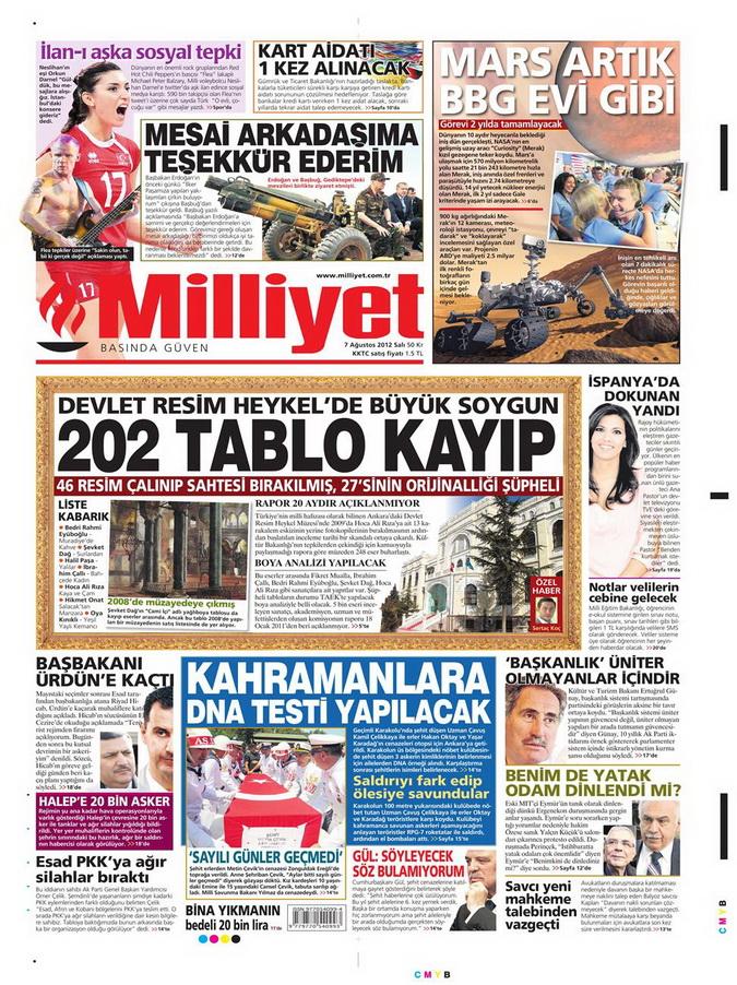 Gazete Manşetleri - 7 Ağustos 2012 Salı 10