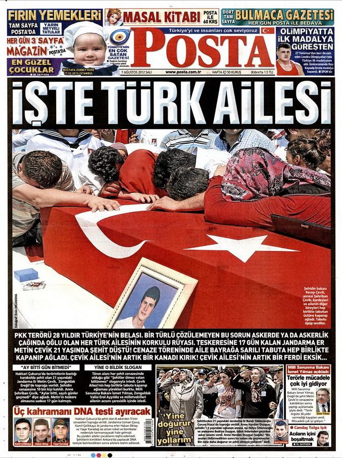 Gazete Manşetleri - 7 Ağustos 2012 Salı 12