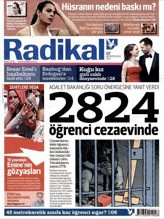 Gazete Manşetleri - 7 Ağustos 2012 Salı 13