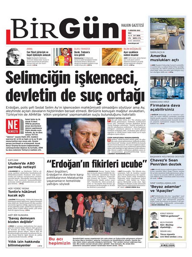 Gazete Manşetleri - 7 Ağustos 2012 Salı 2