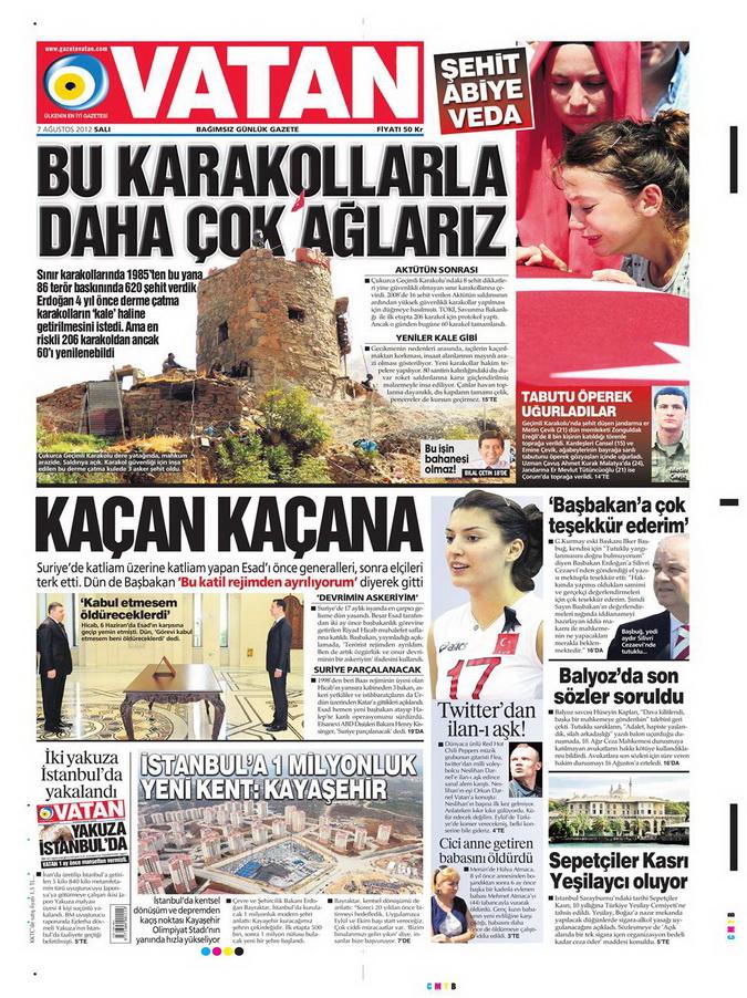 Gazete Manşetleri - 7 Ağustos 2012 Salı 20