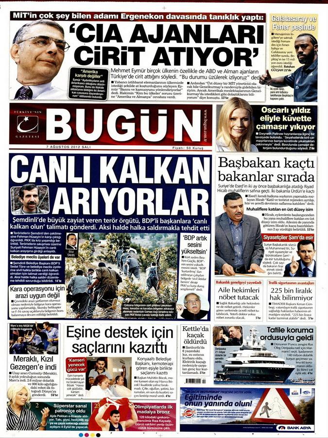 Gazete Manşetleri - 7 Ağustos 2012 Salı 3