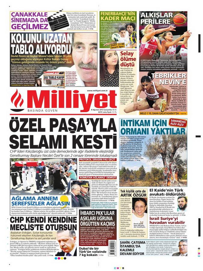 Gazete Manşetleri - 8 Ağustos 2012 Çarşamba 11