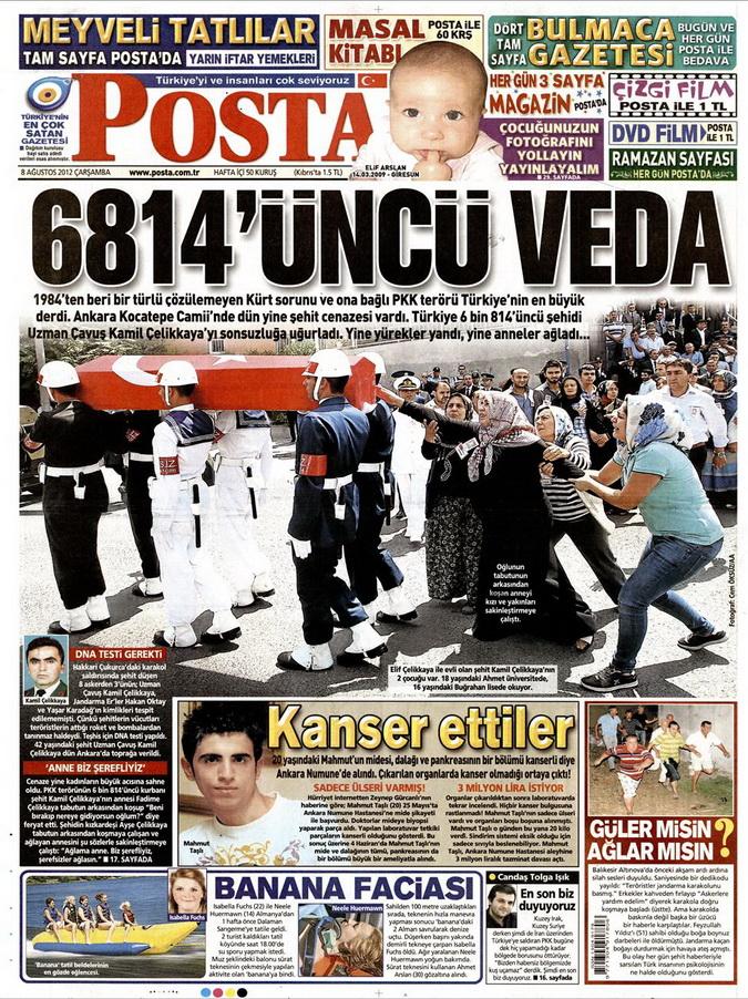 Gazete Manşetleri - 8 Ağustos 2012 Çarşamba 13