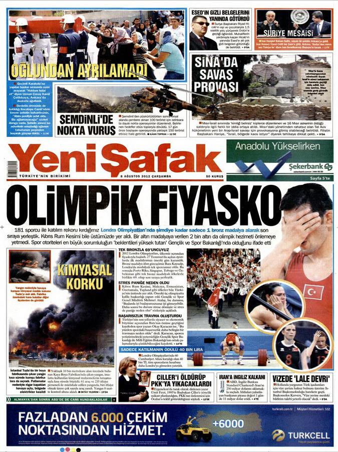 Gazete Manşetleri - 8 Ağustos 2012 Çarşamba 23