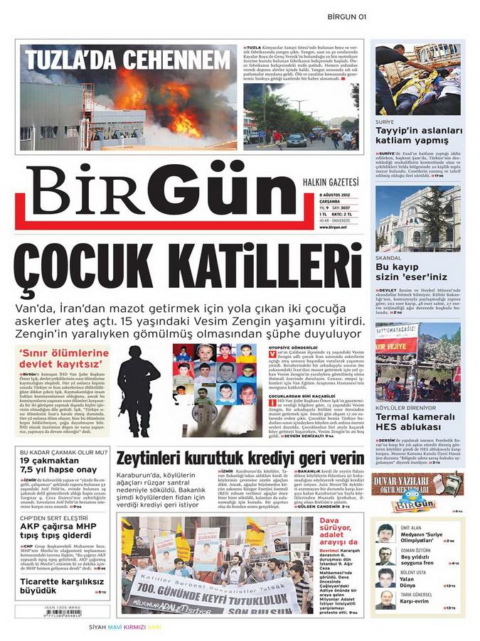 Gazete Manşetleri - 8 Ağustos 2012 Çarşamba 4