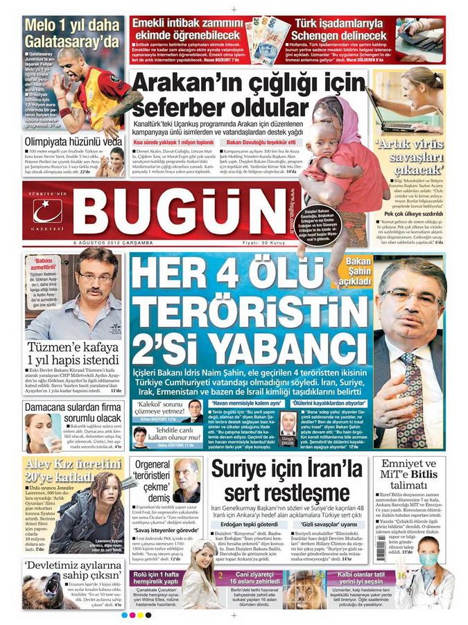 Gazete Manşetleri - 8 Ağustos 2012 Çarşamba 5