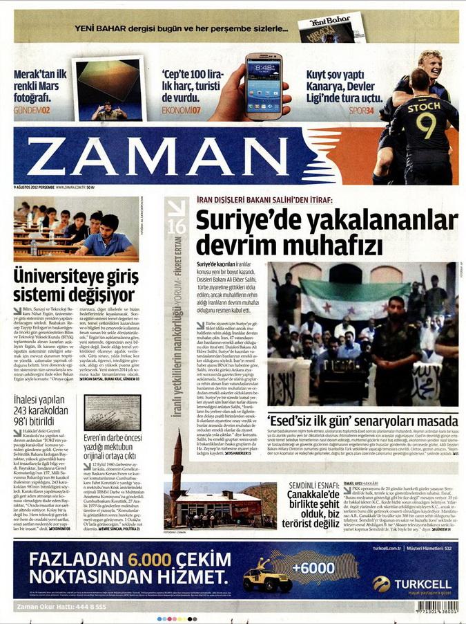 Gazete Manşetleri - 9 Ağustos 2012 Perşembe 22