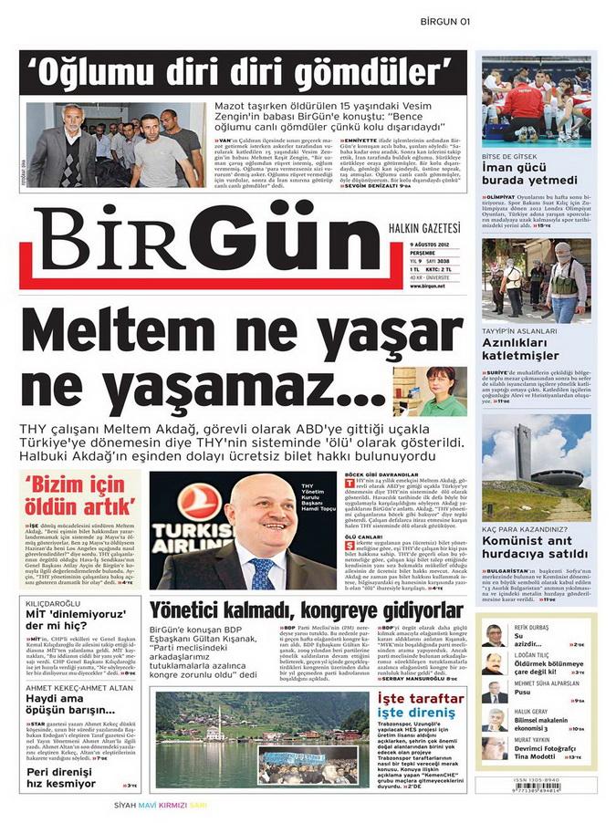 Gazete Manşetleri - 9 Ağustos 2012 Perşembe 4