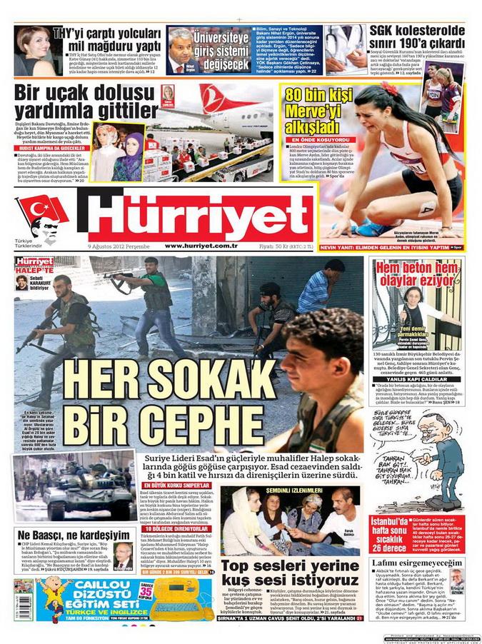 Gazete Manşetleri - 9 Ağustos 2012 Perşembe 9