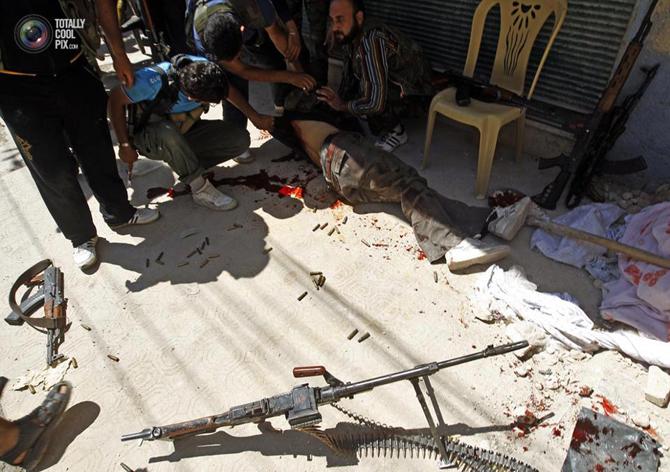 Halepten Çatışma Görüntüleri 13