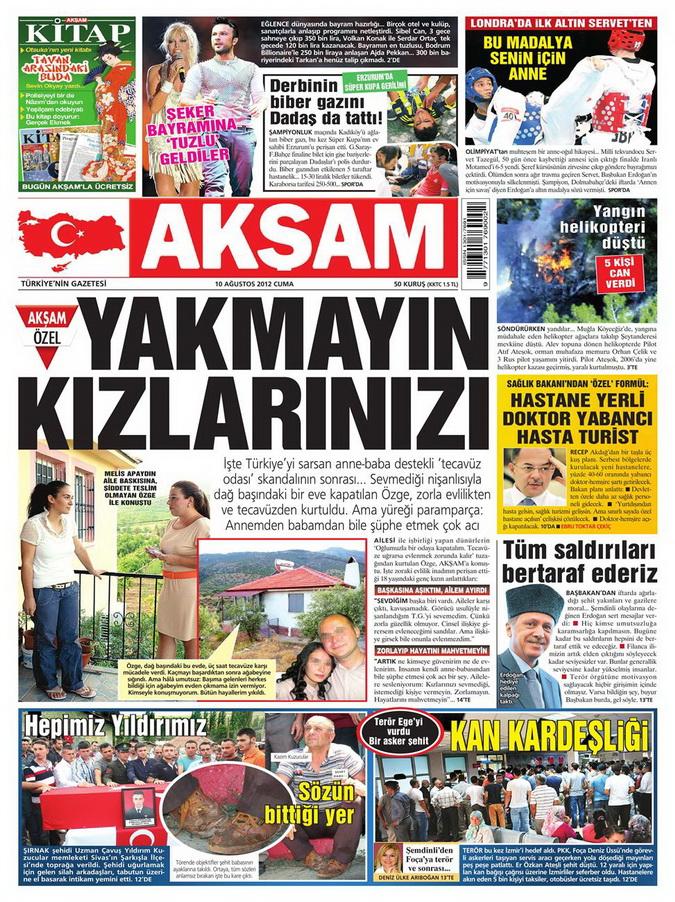 Gazete Manşetleri - 10 Ağustos 2012 Cuma 1
