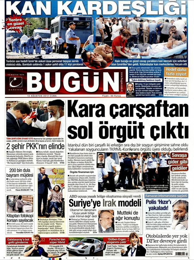 Gazete Manşetleri - 10 Ağustos 2012 Cuma 3