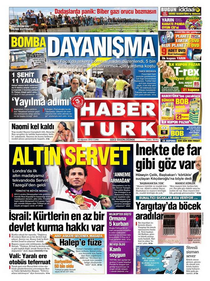 Gazete Manşetleri - 10 Ağustos 2012 Cuma 5
