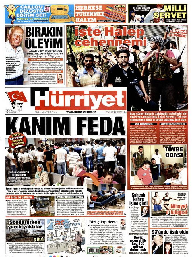 Gazete Manşetleri - 10 Ağustos 2012 Cuma 6