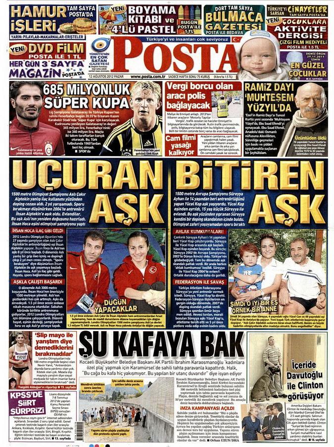 Gazete Manşetleri - 12 Ağustos 2012 Pazar 12