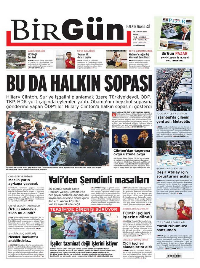 Gazete Manşetleri - 12 Ağustos 2012 Pazar 22
