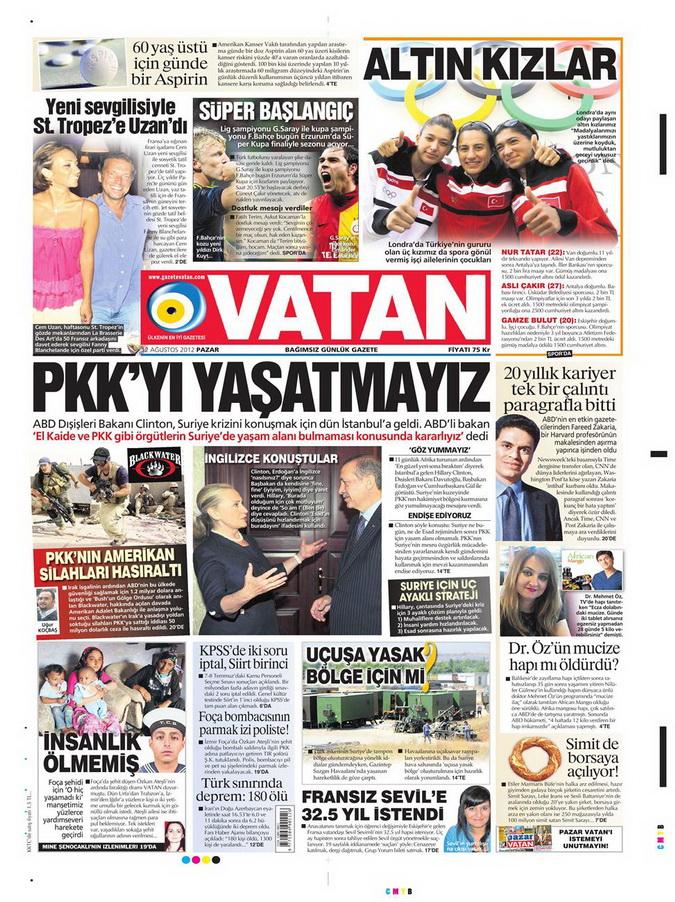 Gazete Manşetleri - 12 Ağustos 2012 Pazar 5