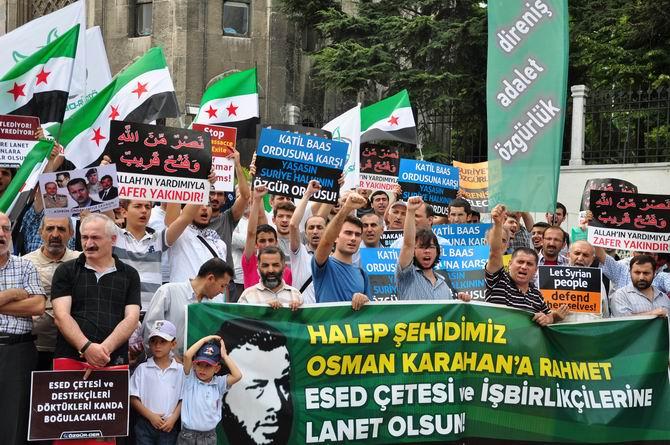 Halep Direnişine Beyazıt'ta Destek Eylemi galerisi resim 1