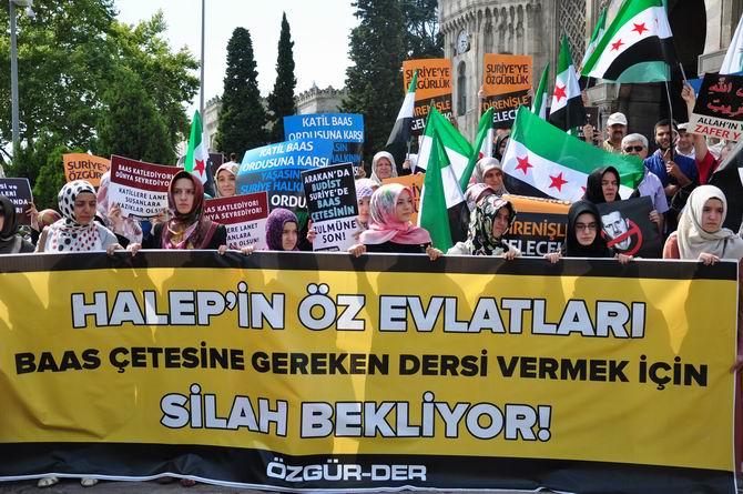 Halep Direnişine Beyazıt'ta Destek Eylemi 3