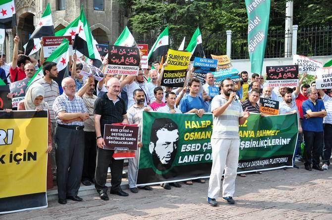 Halep Direnişine Beyazıt'ta Destek Eylemi 8