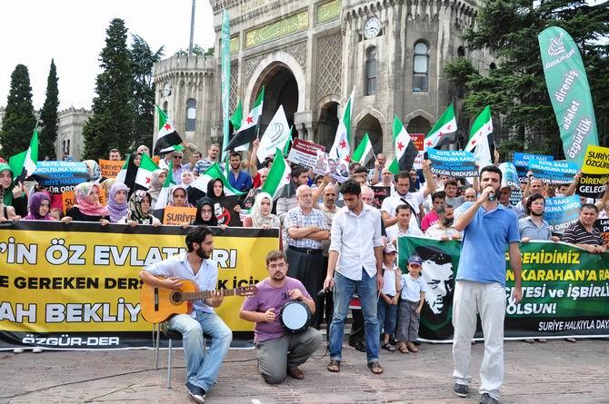 Halep Direnişine Beyazıt'ta Destek Eylemi 9