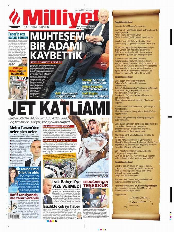 Gazete Manşetleri - 16 Ağustos Perşembe 15