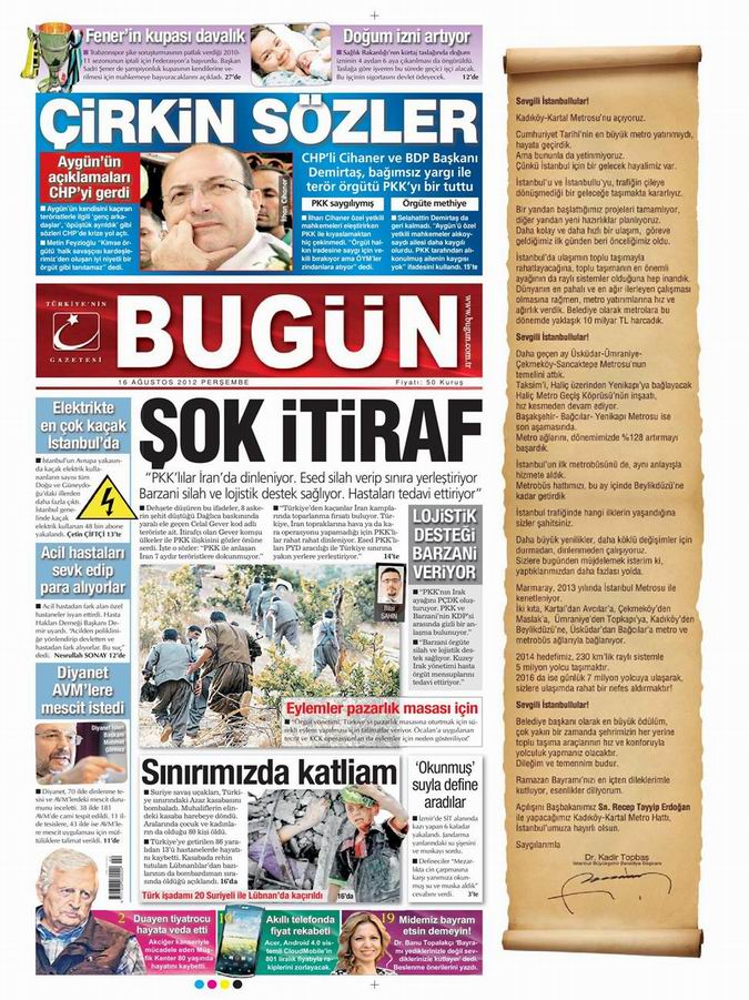 Gazete Manşetleri - 16 Ağustos Perşembe 21