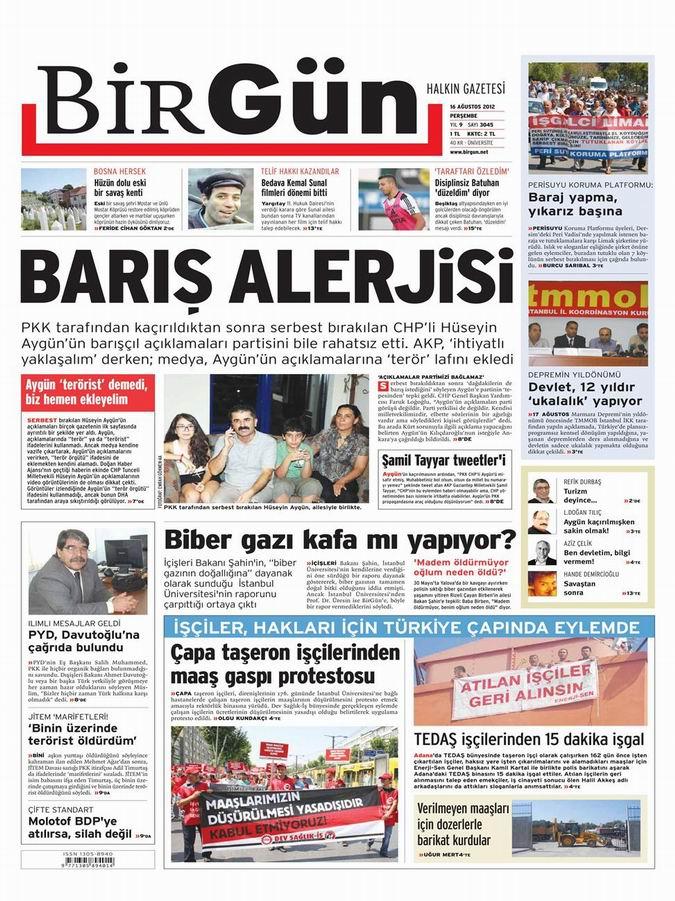 Gazete Manşetleri - 16 Ağustos Perşembe 22