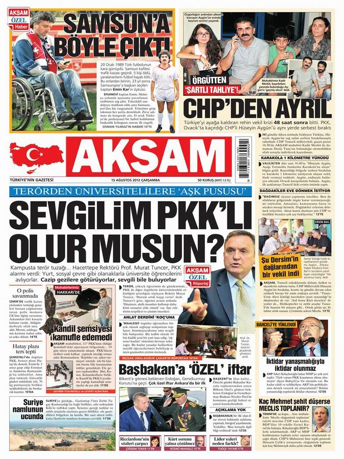 Gazete Manşetleri - 16 Ağustos Perşembe 23