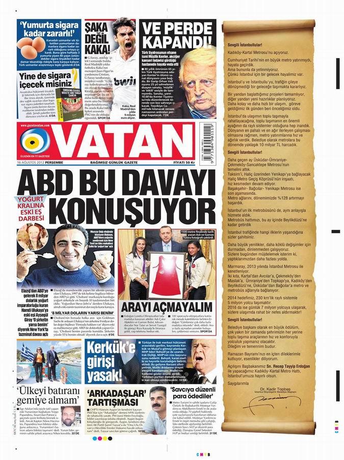 Gazete Manşetleri - 16 Ağustos Perşembe 5