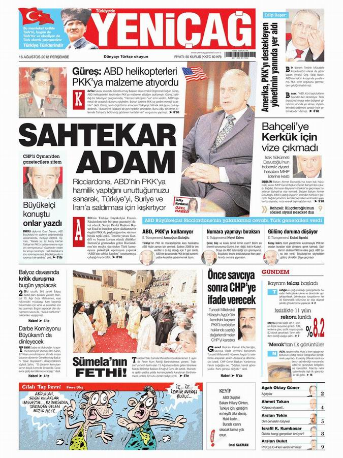 Gazete Manşetleri - 16 Ağustos Perşembe 7