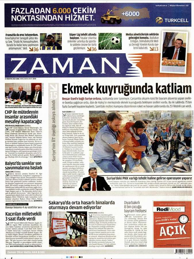Gazete Manşetleri - 17 Ağustos Cuma 1