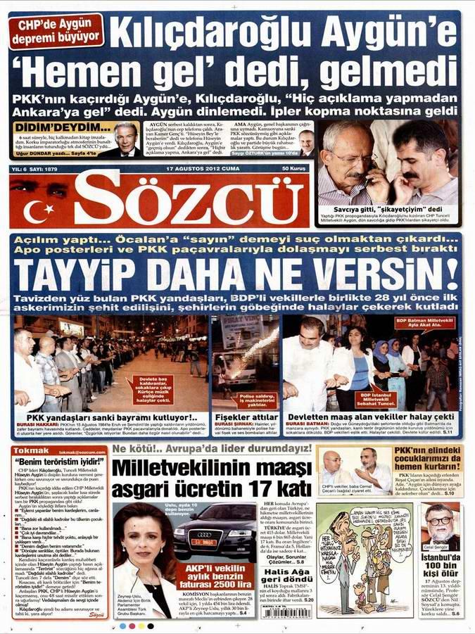 Gazete Manşetleri - 17 Ağustos Cuma 10