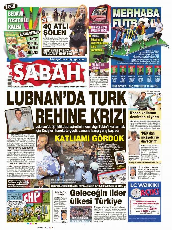 Gazete Manşetleri - 17 Ağustos Cuma 11