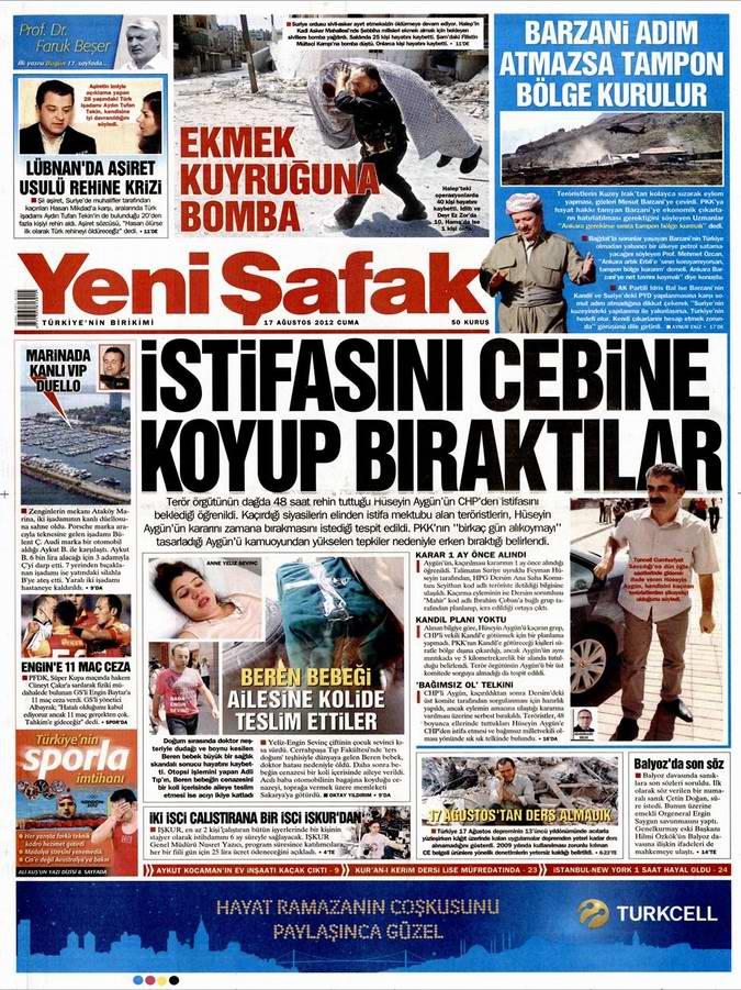 Gazete Manşetleri - 17 Ağustos Cuma 2