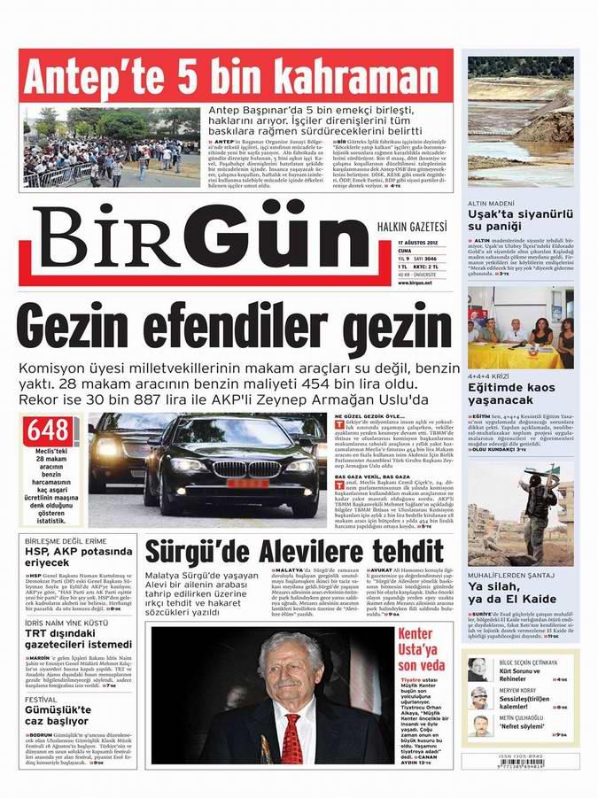 Gazete Manşetleri - 17 Ağustos Cuma 22