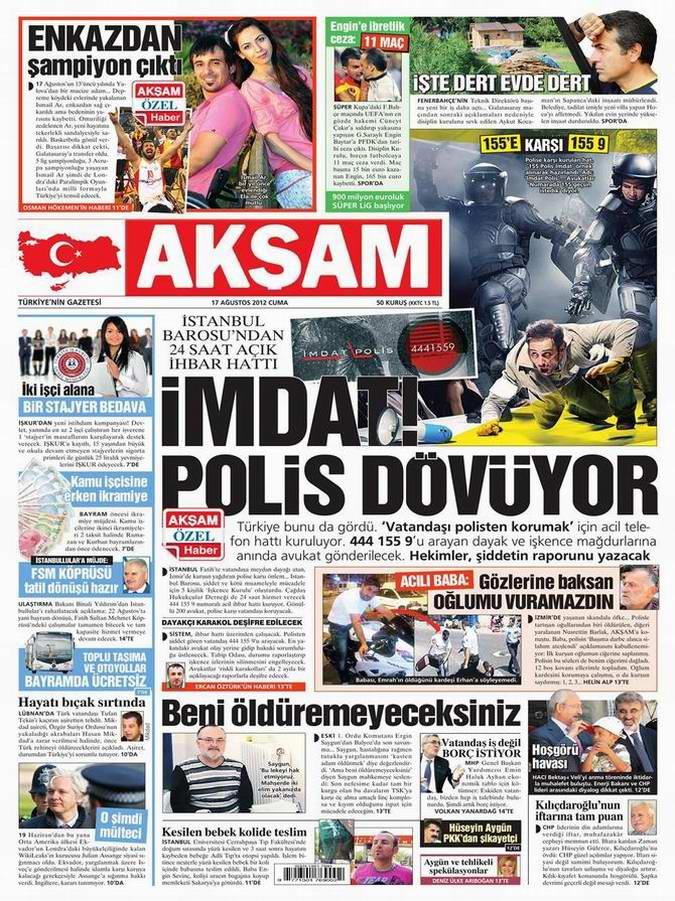 Gazete Manşetleri - 17 Ağustos Cuma 23
