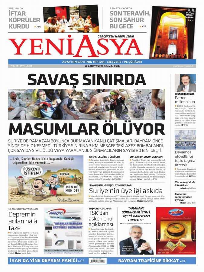 Gazete Manşetleri - 17 Ağustos Cuma 3