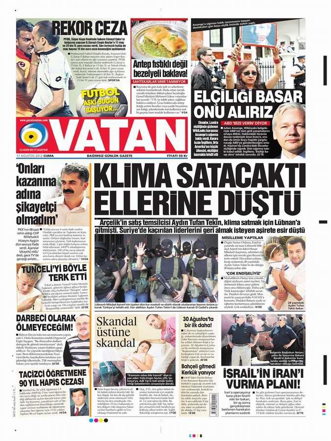 Gazete Manşetleri - 17 Ağustos Cuma 5