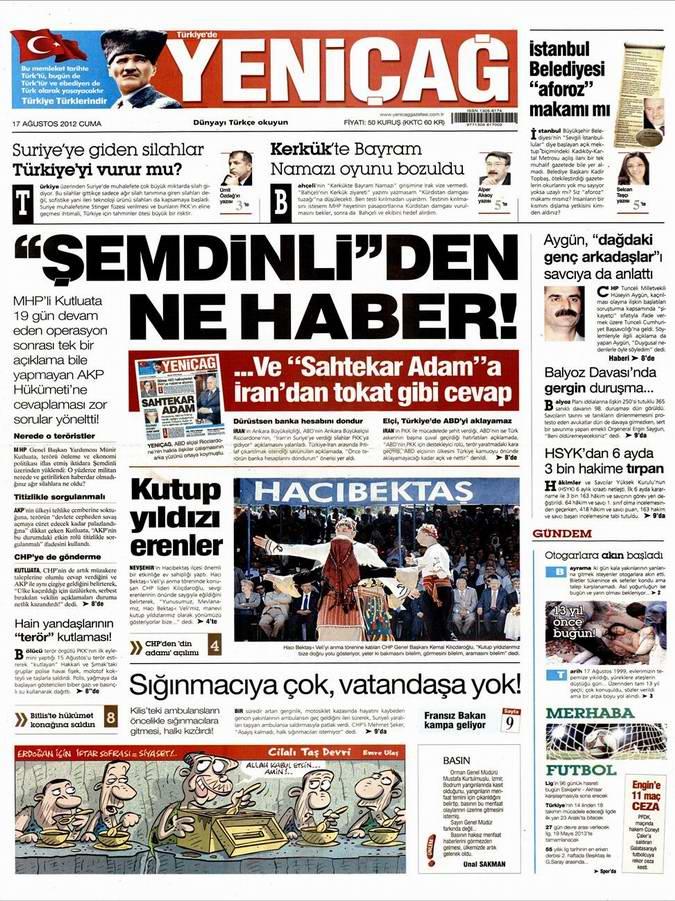 Gazete Manşetleri - 17 Ağustos Cuma 7