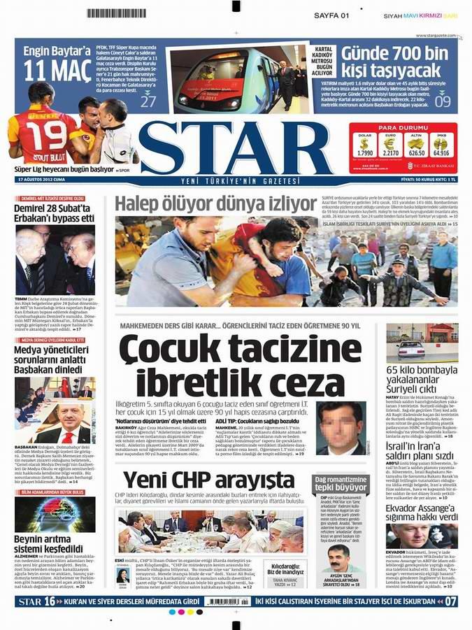 Gazete Manşetleri - 17 Ağustos Cuma 9