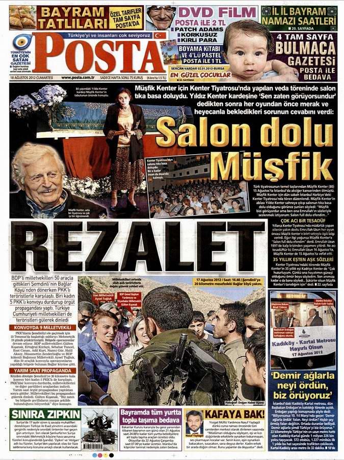 Gazete Manşetleri - 18 Ağustos Cumartesi 13
